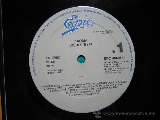 Discos de vinilo: LP KAOMA 1989 - Foto 3 - 30980402