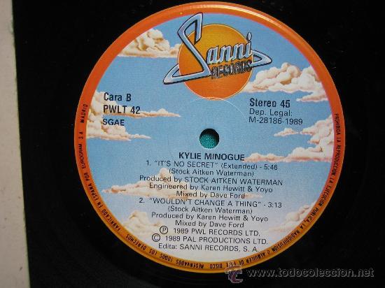 Discos de vinilo: LP KYLIE 1989 - Foto 2 - 30980661