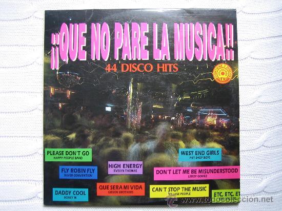 LP QUE NO PARE LA MUSICA 1992. TRES DISCOS (Música - Discos - Singles Vinilo - Grupos Españoles de los 90 a la actualidad)