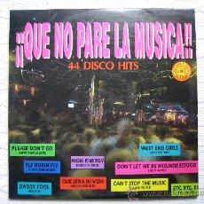 Discos de vinilo: LP QUE NO PARE LA MUSICA 1992. TRES DISCOS. Lote 30980069