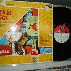 Discos de vinilo: MAURICE LARCANGE ACORDEON LP PARIS FOR LOVERS SPAIN. Lote 30980677