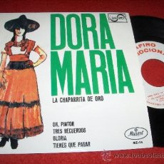 "Discos de vinilo: DORA MARIA LA CHAPARRITA DE ORO OH PINTOR/TRES RECUERDOS/+2 7"" EP 1967 ZAFIRO PROMO. Lote 30985120"