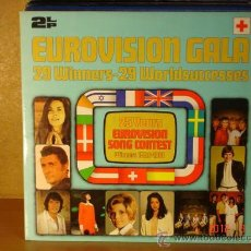 Disques de vinyle: EUROVISION GALA 25 YEARS OF EUROVISON SONG CONTEST WINNERS 1956-1981 2LP POLYDOR 2675 221. Lote 30990211