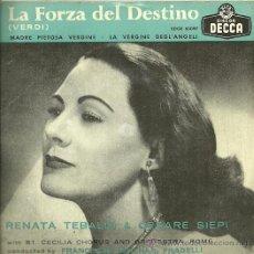 Discos de vinilo: RENATA TEBALDI EP SELLO DECCA EDITADO EN ESPAÑA AÑO 1958. Lote 30990567