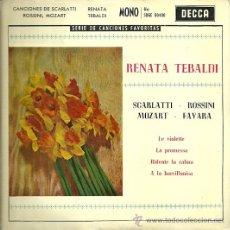 Discos de vinilo: RENATA TEBALDI EP SELLO DECCA EDITADO EN ESPAÑA AÑO 1958. Lote 30990584