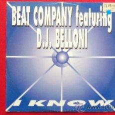 Disques de vinyle: BEAT COMPANY FEAT. D.J. BELLONI I KNOW. Lote 146191360