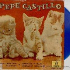 Disques de vinyle: PEPE CASTILLO - STORMY WEATHER - STARDUST+ 2 - EP 1962 VINILO AZUL. Lote 30998591
