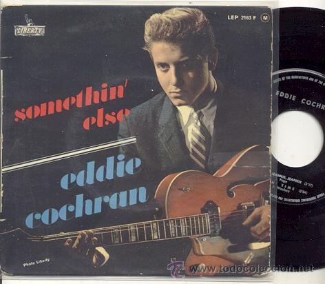 EP 45 RPM / EDDIE COCHRAN / SOMETHIN ELSE // EDITADO POR LIBERTY (Música - Discos de Vinilo - EPs - Rock & Roll)