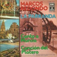 Discos de vinilo: MARCOS REDONDO SINGLE SELLO EMI-ODEON EDITADO EN ESPAÑA AÑO 1974. Lote 31004778