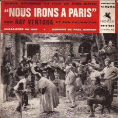 Discos de vinilo: EP-RAY VENTURA-BSO NOUS IRONS A PARIS-VERSALLES 90S364-FRANCE-1962. Lote 31007450