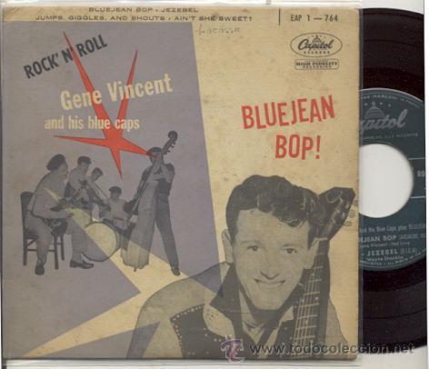 EP 45 RPM / GENE VINCENT / BLUE JEAN BOB // EDITADO POR CAPITOL ORIGINAL FRANCES (Música - Discos de Vinilo - EPs - Rock & Roll)