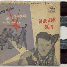 Discos de vinilo: EP 45 RPM / GENE VINCENT / BLUE JEAN BOB // EDITADO POR CAPITOL ORIGINAL FRANCES. Lote 31014277