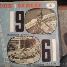 Discos de vinilo: SUPER RARO EXITOS DE LA EUROVISION 1961 ODEON OLP-072 JACQUELINE BOYER. Lote 31017198