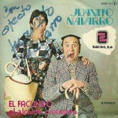 Discos de vinilo: JUANITO NAVARRO SINGLE SELLO ZAFIRO AÑO 1976 EDITADO EN ESPAÑA. Lote 31017762