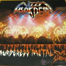 Discos de vinilo: LIZZY BORDEN - LIVE / THE MURDERESS METAL ROAD SHOW - 2 LP - LETRAS - N MINT. Lote 31044449