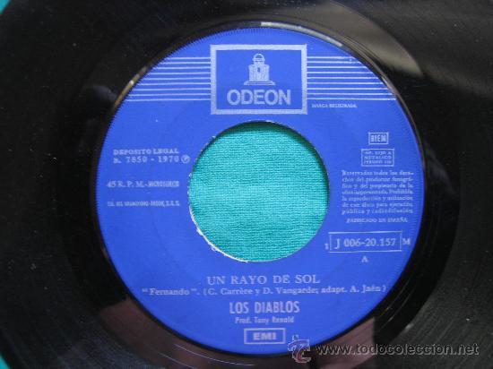 Discos de vinilo: Singels Los Diablos 1970 - Foto 2 - 31044163