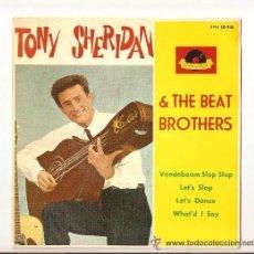 Discos de vinilo: THE BEATLES TONY SHERIDAN VERY RARE EP FIRST POLYDOR EPH 50910 - PORTADA REPRO !. Lote 73971906