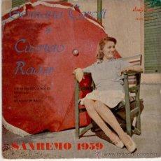 Discos de vinilo: GERMANA CAROLI // CUARTETO RADAR - UN BACIO SULLA BOCCA + 3 EP SPAIN SAN REMO 1959. Lote 31072186