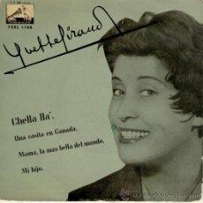 Discos de vinilo: YVETTE GIRAUD MAMA, LA MAS BELLA DEL MUNDO - UNA CASITA EN CANADA -+ 2 EP SPAIN 1958 VG+ / VG++. Lote 31072240