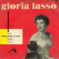 Discos de vinilo: GLORIA LASSO - BAHIA / BUENAS NOCHES MI AMOR / GRANADA / CACHITO - EP 196?. Lote 34117548