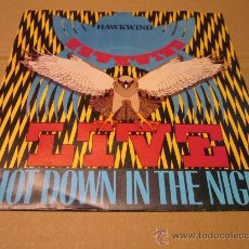 Discos de vinilo: HAWKWIND - SHOT DOWN IN THE NIGHT -LIVE-MADE IN UK IN 1980.. Lote 31088155