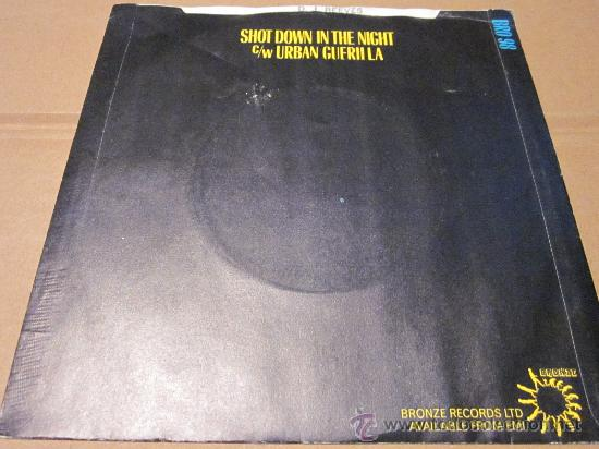 Discos de vinilo: HAWKWIND - SHOT DOWN IN THE NIGHT -LIVE-MADE IN UK IN 1980. - Foto 2 - 31088155