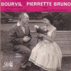 Discos de vinilo: EP-BOUVRVIL ET PIERRETTE BRUNO-PATHE 452-FRANCE-195???. Lote 31092659