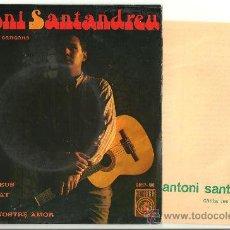 Discos de vinilo: ANTONI SANTANDREU TOTES LES VEUS + 3 EP CONCENTRIC 1967 + FULLA TEXTES VG++ / EX. Lote 31095264