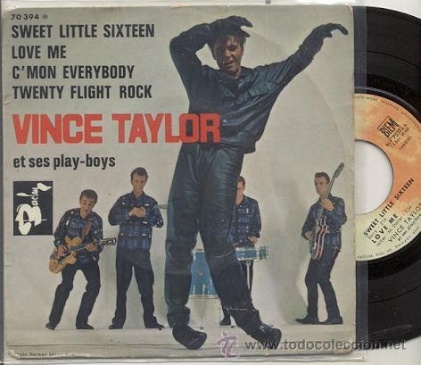EP 45 RPM / VINCE TAYLOR ET SES PLAY BOYS / C'MON EVERYBODY /EDDIE COCHRAN/ EDITADO POR BARCLAY (Música - Discos de Vinilo - EPs - Pop - Rock Extranjero de los 50 y 60)