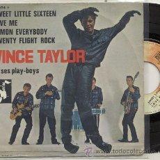 Discos de vinilo: EP 45 RPM / VINCE TAYLOR ET SES PLAY BOYS / C'MON EVERYBODY /EDDIE COCHRAN/ EDITADO POR BARCLAY. Lote 31099226