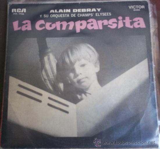 DOS SENCILLOS ARGENTINOS DE ALAIN DEBRAY Y SU ORQUESTA DE CHAMPS ELYSEES (Música - Discos - Singles Vinilo - Orquestas)