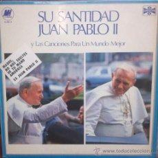 Discos de vinilo: LP DEL PAPA JUAN PABLO II AÑO 1979 EDICIÓN ARGENTINA. Lote 31064720
