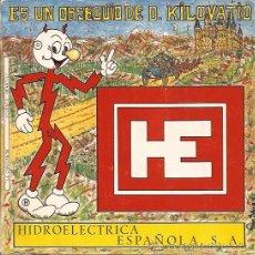 Discos de vinilo: SINGLE-COMERCIAL HIDROELECTRICA-1971-FLEXIDISCO-PORTADA ABIERTA-PUBLICIDAD. Lote 31109984