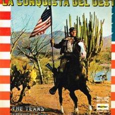 Discos de vinilo: THE TEXAS TRAVELLERS - LA CONQUISTA DEL OESTE - DOBLE LP 1976 - PORTADA DOBLE - . Lote 31114668