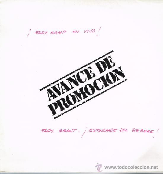 EDDY GRANT - EDDY GRANT EN VIVO DESDE NOTTING HILL (TEMAS EXTRAIDOS DE DOBLE ALBUM) - LP 1982 PROMO (Música - Discos - LP Vinilo - Reggae - Ska)