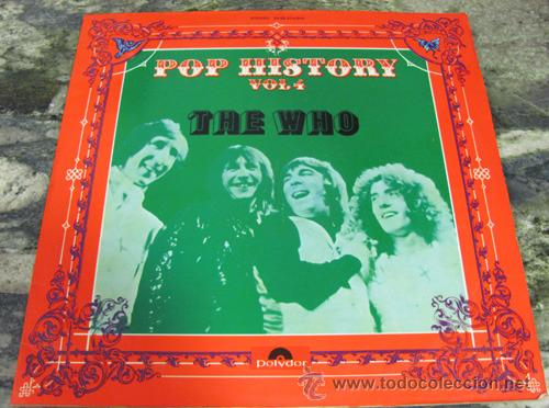 THE WHO - POP HISTORY - DOBLE LP 1971 (Música - Discos - LP Vinilo - Pop - Rock Extranjero de los 50 y 60)