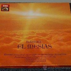 Discos de vinilo: EL MESIAS - HANDEL - HAENDEL - ORATORIO COMPLETO - CAJA DE 3 DISCOS DE VINILO. Lote 31164567
