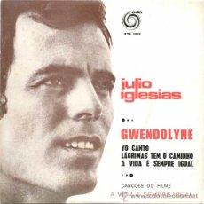 Discos de vinil: SPAIN 1970JULIO IGLESIAS GWENDOLYNE+3 CANTA EN PORTUGUÉS PORTUGAL RTE 2018. Lote 31177156