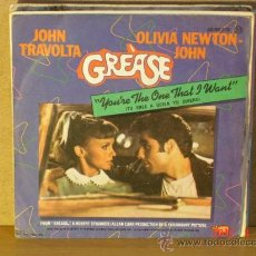 Discos de vinilo: JOHN TRAVOLTA & OLIVIA NEWTON JOHN - YOU'RE THE ONE THAT I WANT / ALONE AT A DRIVE-IN MOVIE - 1978. Lote 31186943