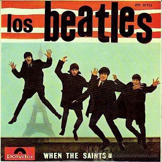 THE BEATLES TONY SHERIDAN WHEN THE SAINTS E.P. ORIGINAL POLYDOR EPH 50926 ESPAÑOL 1964 (Música - Discos de Vinilo - EPs - Pop - Rock Extranjero de los 50 y 60)