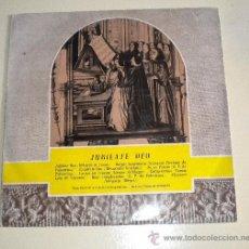 Discos de vinilo: JUBILATE DEO - MASA CORAL DEL LA CATEDRAL DE REGENSBURGO - EMIDISC 1.961. Lote 31201424