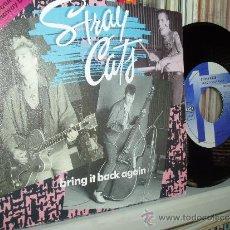 Discos de vinilo: STRAY CATS 45 BRING IT BACK AGAIN ROCK-A-BILLY MUY RARO SPAIN MINT. Lote 31206834