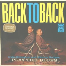 Discos de vinilo: DUKE ELLINGTON & JOHNNY HODGES BACK TO BACK LP VERVE RECORDS. Lote 31234458