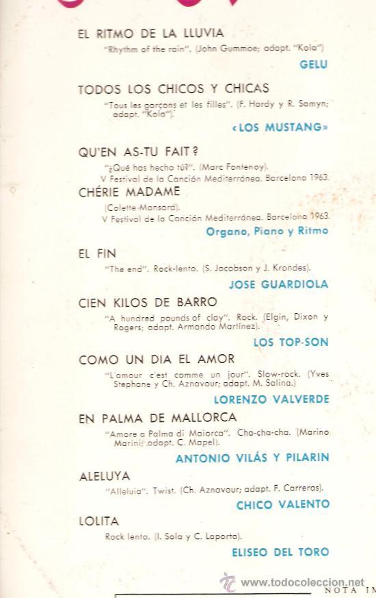 Discos de vinilo: LP EN ESPAÑA SE CANTA ( GELU, JOSE GUARDIOLA, CHICO VALENTO, ROSITA FERRER, LOS MUSTANG, ETC) - Foto 3 - 31237180