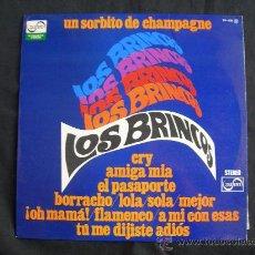 Discos de vinilo: LP LOS BRINCOS // UN SORBITO DE CHAMPAGNE. Lote 31241775