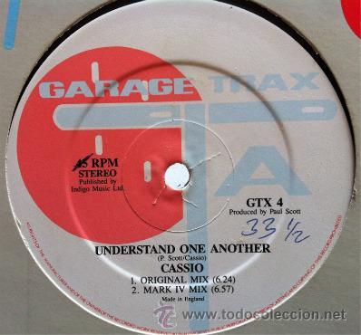 CASSIO - UNDERSTAND ONE ANOTHER . MAXI SINGLE . GARAGE TRAX UK (Música - Discos de Vinilo - Maxi Singles - Disco y Dance)