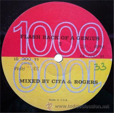 CITA & ROGERS -FLASH BACK OF A GENIUS 2 . MAXI SINGLE . GENIUS RECORDS USA (Música - Discos de Vinilo - Maxi Singles - Disco y Dance)