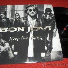 Discos de vinilo: BON JOVI I WISH EVERYDAY COULD BE LIKE CHRISTMAS/KEEP THE FAITH 7 SINGLE 1992 MERCURY UK . Lote 31248808
