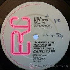 Discos de vinilo: JIMMY RUFFIN & JACKSON MOORE - I'M GONNA LOVE YOU FOREVER . MAXI SINGLE . 1984 ERC MUSIC USA. Lote 31262289
