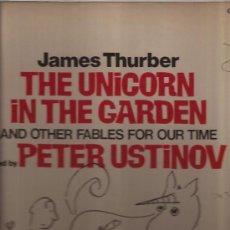 Discos de vinilo: LP-JAMES THURBER THE UNICORN IN THE GARDEN-NARRADO POR PETER USTINOV-CAEDMON 1398-USA 1968. Lote 31269027